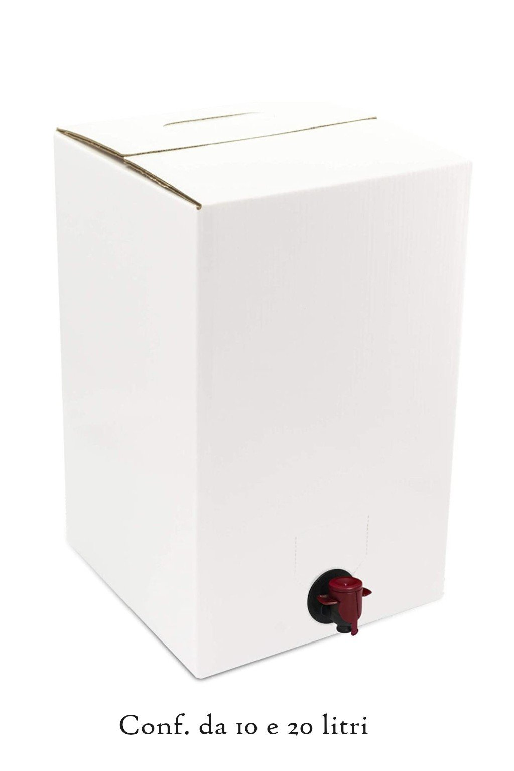 Bag in box bianco con scritta